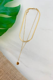 Time Will Tell Double Chain Necklace: Gold - ShopSpoiled