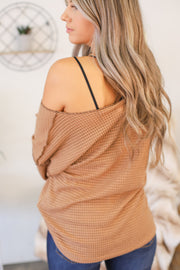 Break Through Top: Taupe - ShopSpoiled