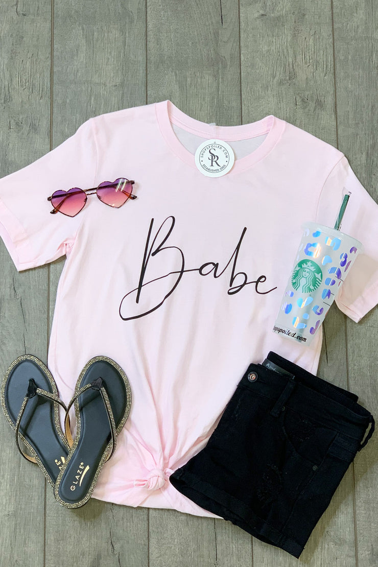 Babe Tee : Pink - ShopSpoiled