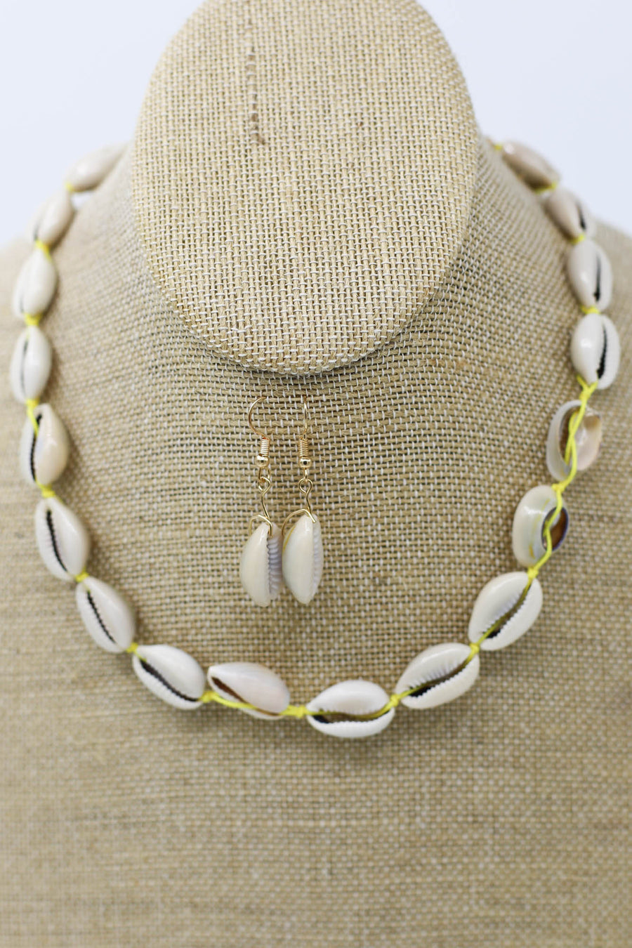Power Shell Necklace: Yellow - ShopSpoiled