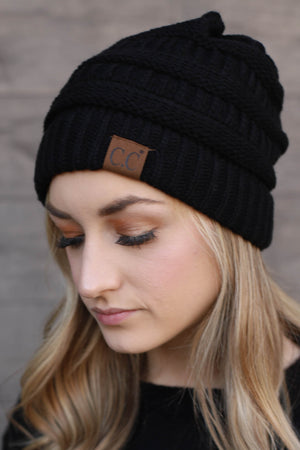 Basic CC Beanie: Black - ShopSpoiled