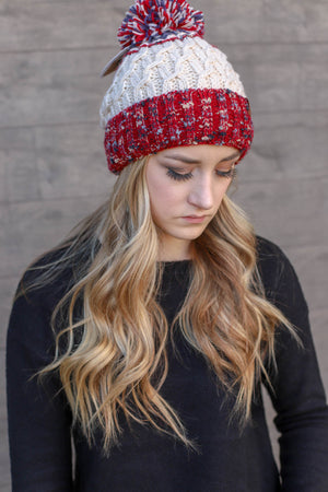 Chill Out Beanie: Red/White/Blue - ShopSpoiled