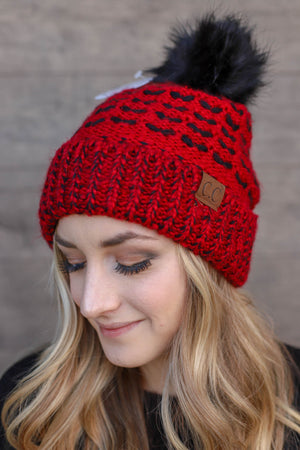 Warm My Heart Beanie: Red - ShopSpoiled