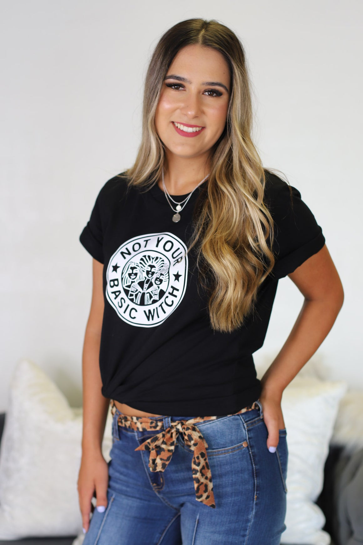 Not Your Basic Witch Tee: Black - ShopSpoiled