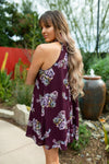 Kaitlyn Dress: Burgundy Floral - ShopSpoiled