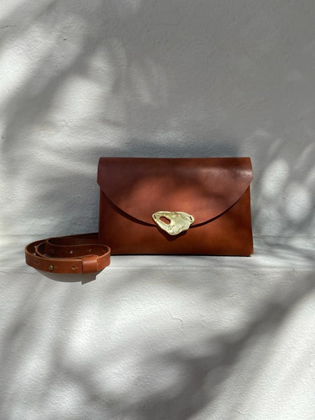 Cognac Little Leather Bag