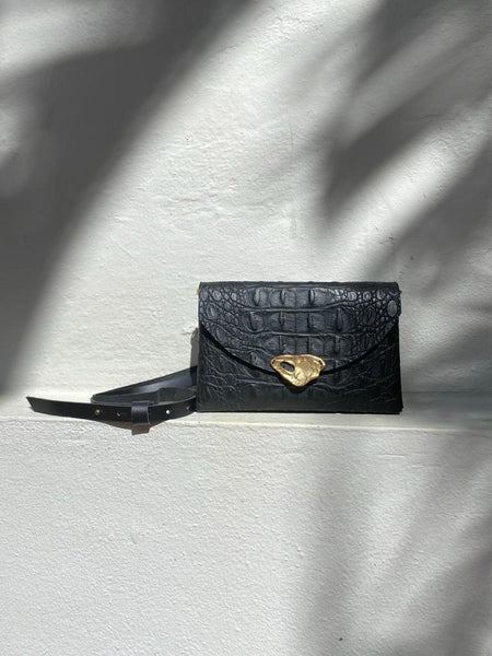 Black Little Leather Bag