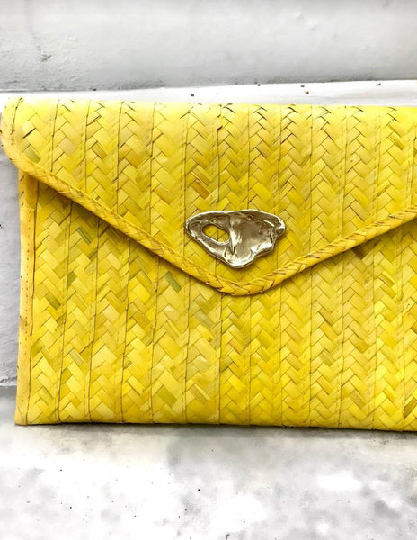 Yellow Palma Clutch