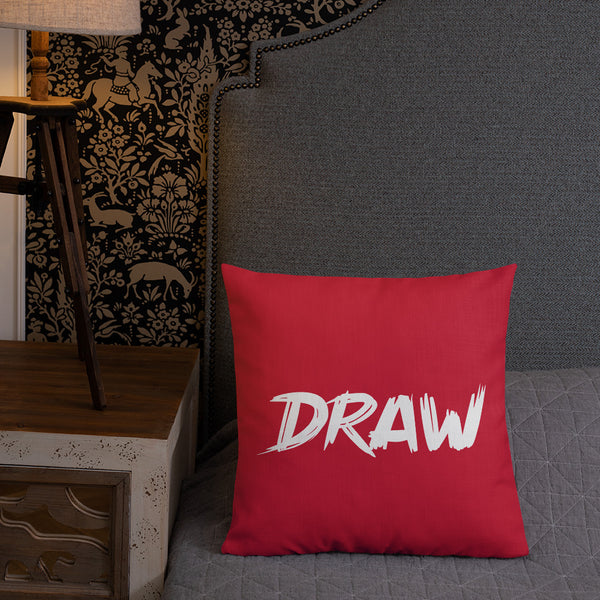 """DRAW"" Pillow"