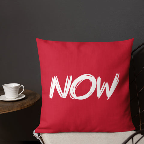 """NOW"" Pillow"