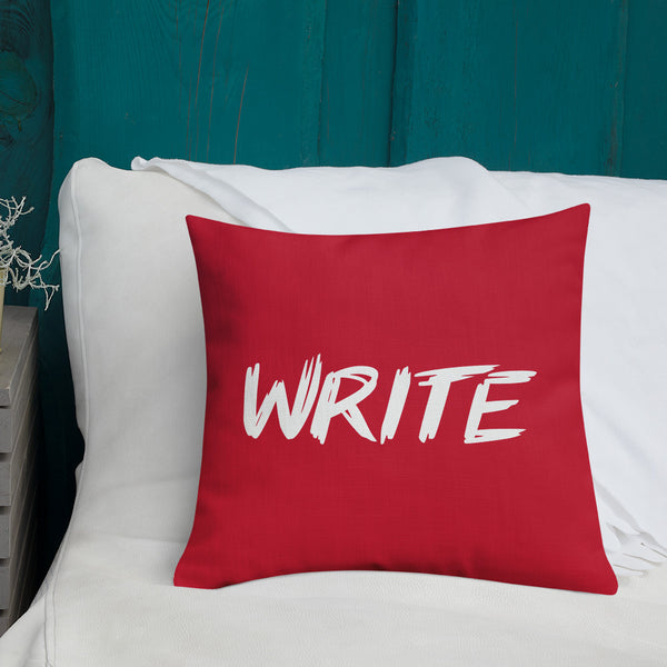 """WRITE"" Pillow"