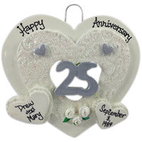 25th Anniversary Heart - Made of Resin
