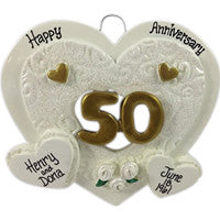 50th Anniversary Heart - Made of Resin