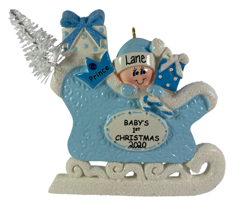 Baby Sleigh Blue - Made of Resin