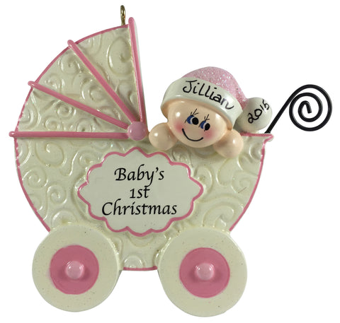 Baby Carriage Pink - Made of Resin