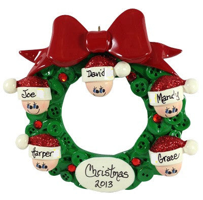 Button Wreath Family of 5 - Made of Resin