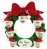 Button Wreath Family of 7 - Made of Resin