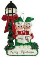 Caroler Family of 2 - Made of Resin