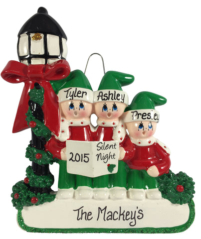 Caroler Family of 3 - Made of Resin