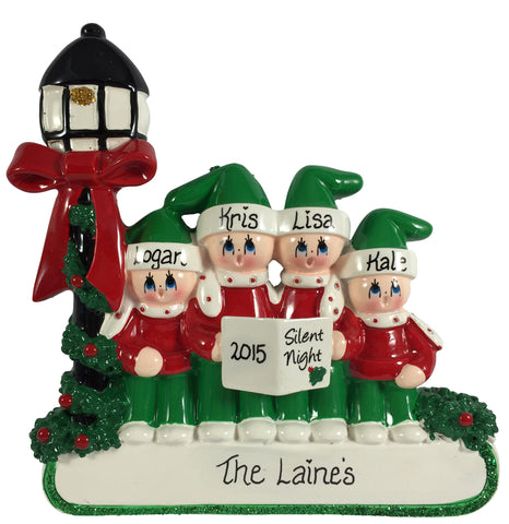 Caroler Family of 4 - Made of Resin