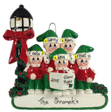 Caroler Family of 5 - Made of Resin