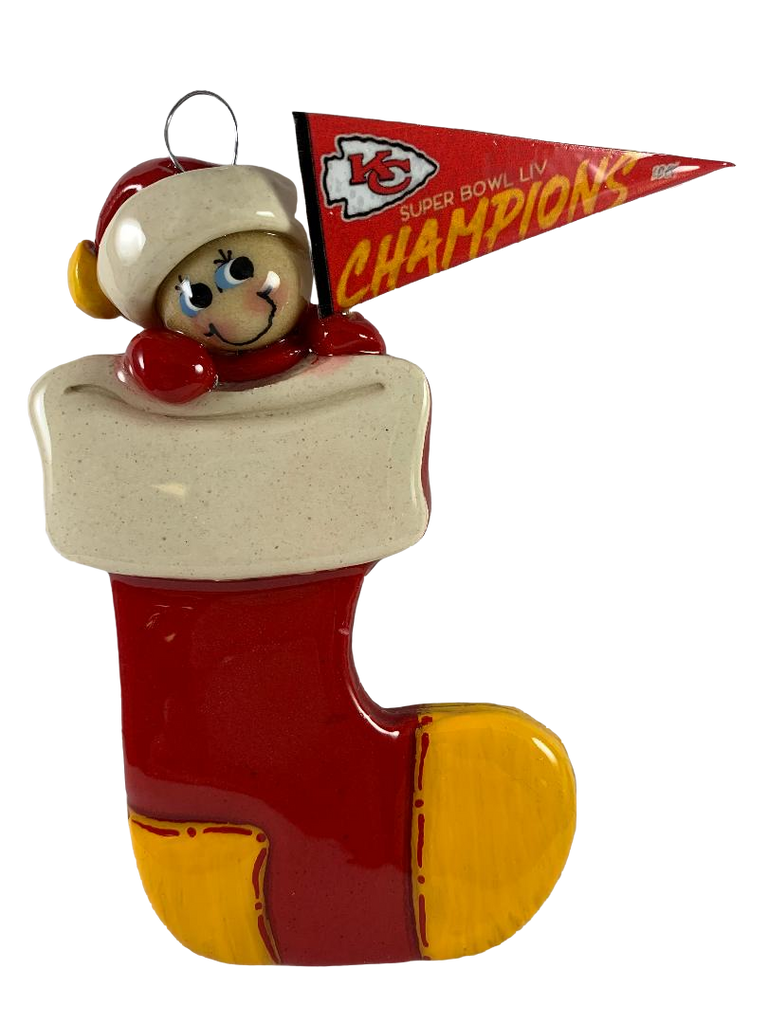 KC Chiefs Super Bowl Snowman - Made of Bread Dough