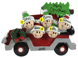 Christmas Tree Caravan Family of 5 - Made of Resin