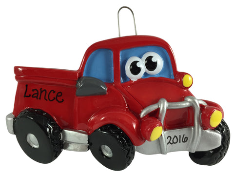 Pick-Up Truck with Face - Made of Resin