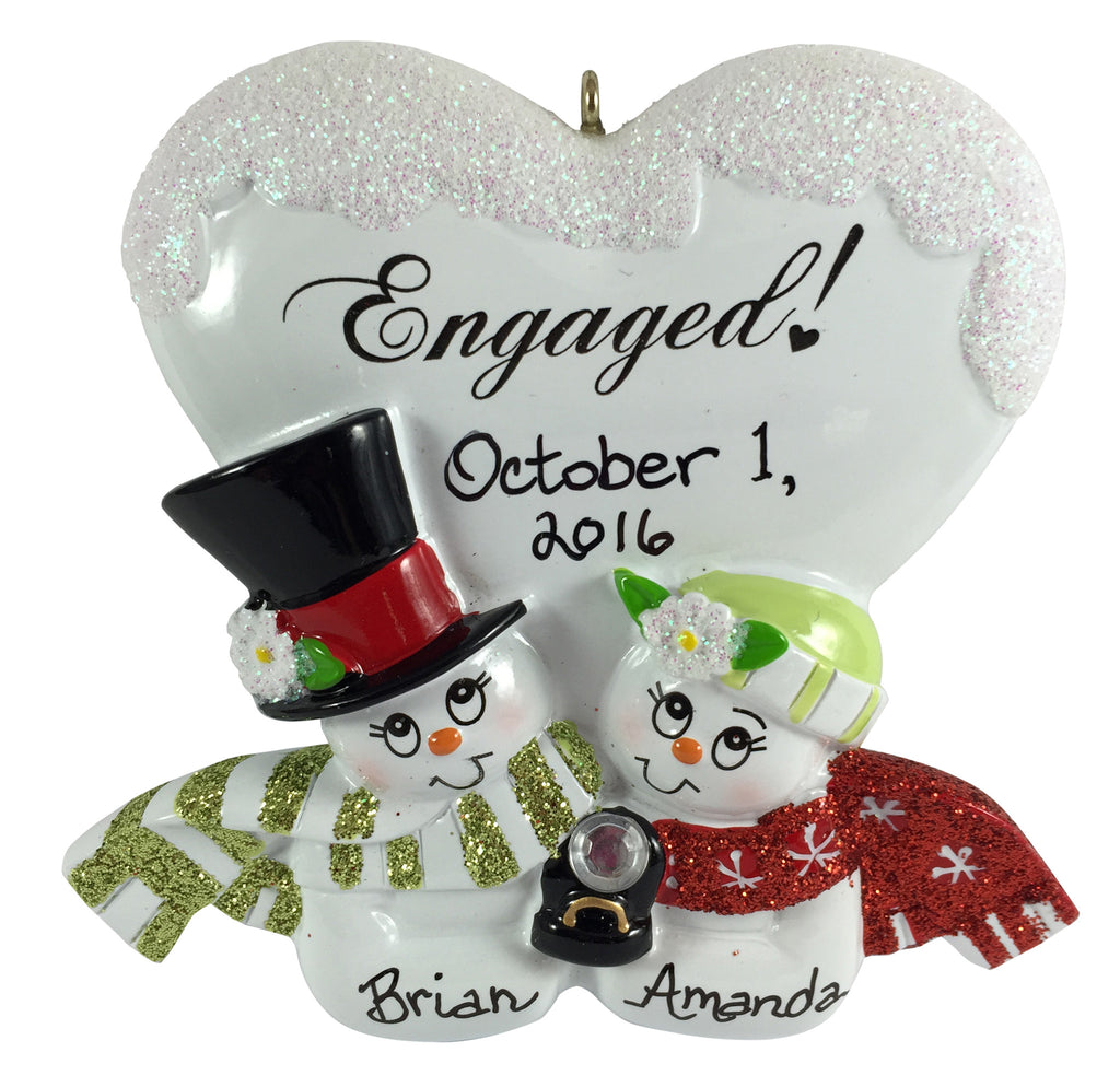 Engaged Snowcouple - Made of Resin