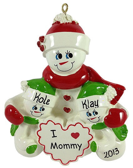 I Love Mommy - 2 Children - Made of Resin