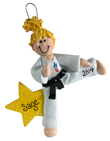 Karate Girl Blonde - Made of Resin
