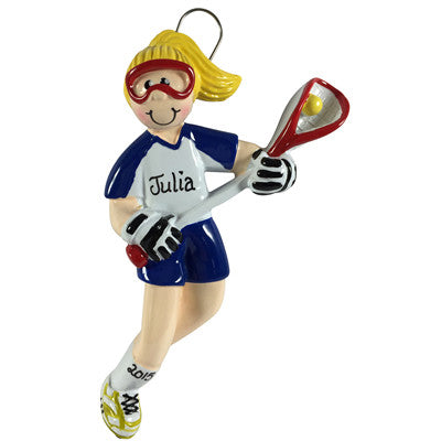Lacrosse Girl Blonde - Made of Resin