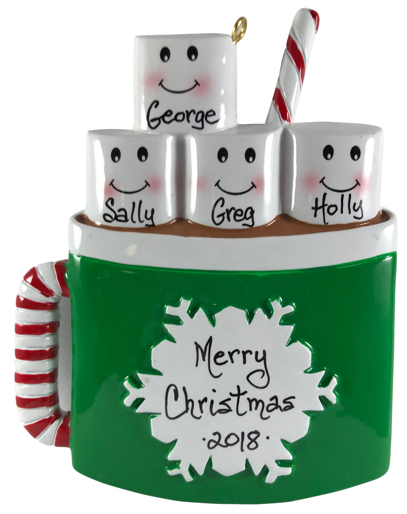 Marshmallow Mug Family of 4 - Made of Resin