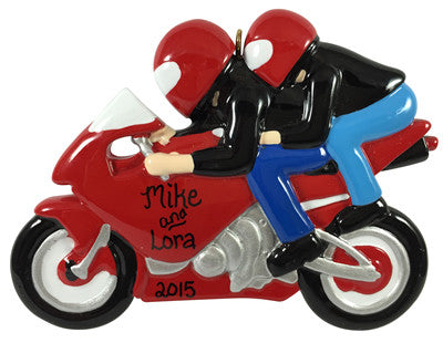 Dual Motorcycle Riders - Made of Resin