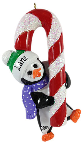Penguin Candy Cane - Made of Resin
