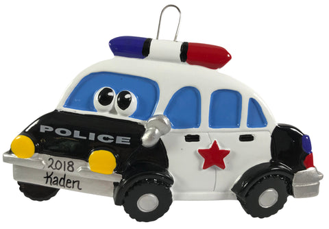 Police Car  with Face - Made of Resin