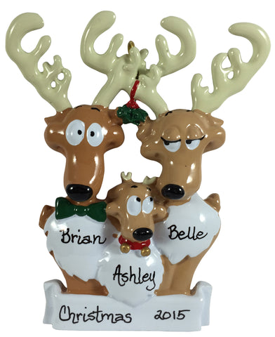 Reindeer Family of 3 - Made of Resin