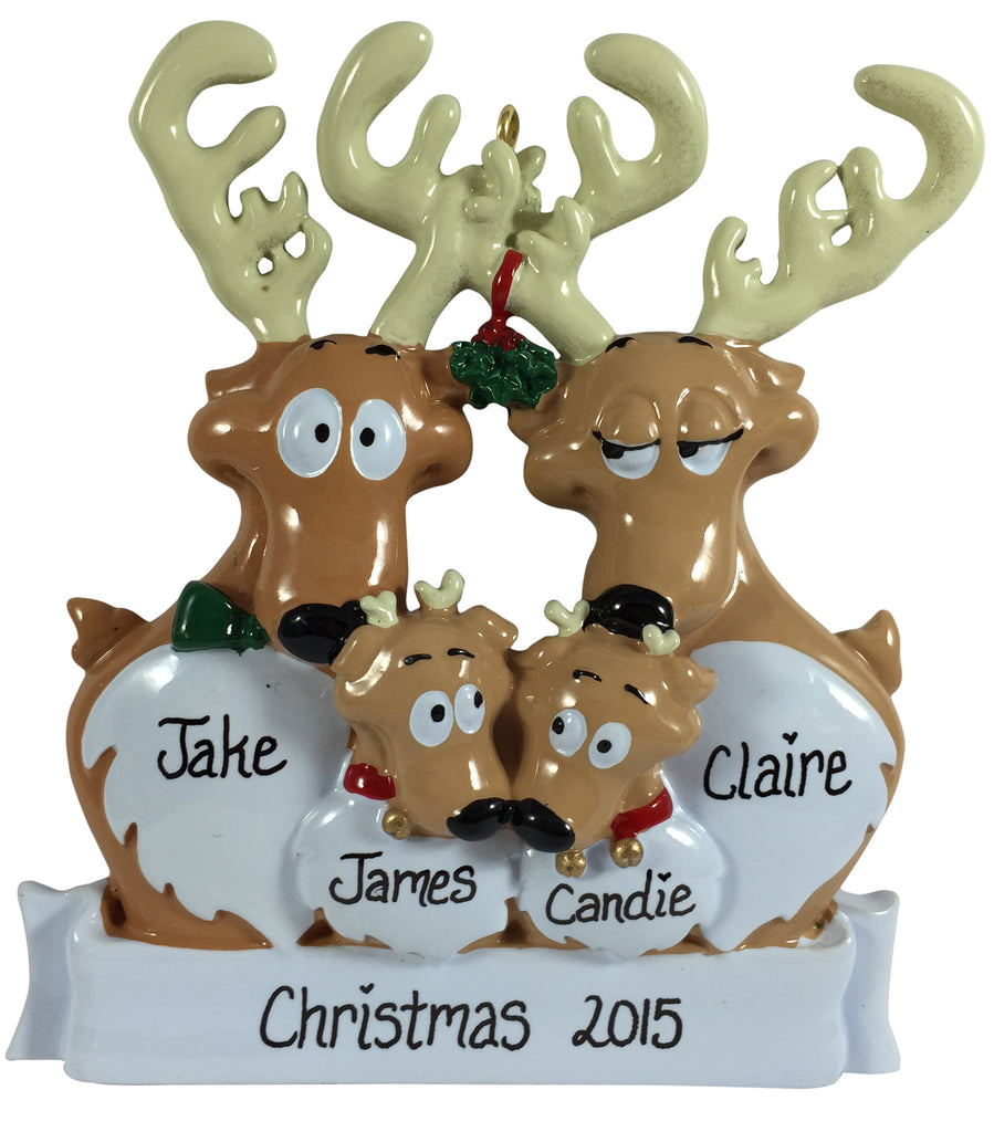 Reindeer Family of 4 - Made of Resin