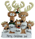 Reindeer Family of 5 - Made of Resin
