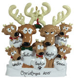 Reindeer Family of 7 - Made of Resin