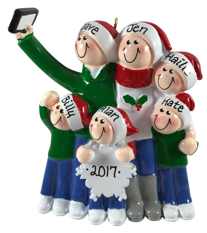 Selfie Family of 6 - Made of Resin
