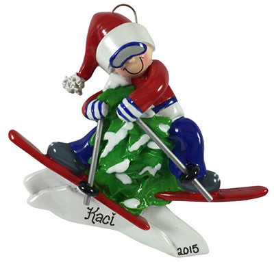 Skier - Made of Resin