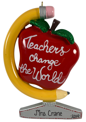 Teachers Change the World - Made of Resin