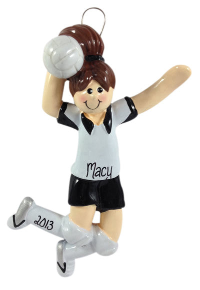 Volleyball Girl Brunette - Made of Resin