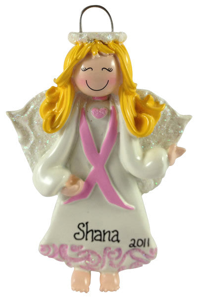 Angel with Pink Banner - Made of Resin