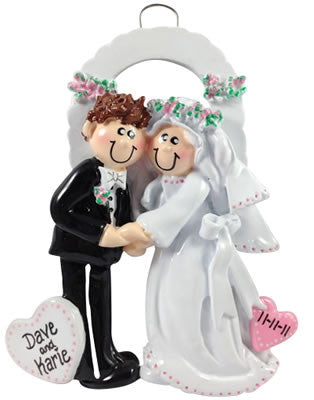 Bride and Groom Under Arch - Made of Resin