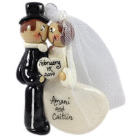Bride and Groom in Top Hat - Made of Bread Dough