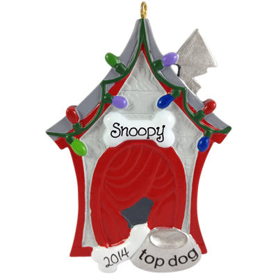 Decorated Doghouse - Made of Resin