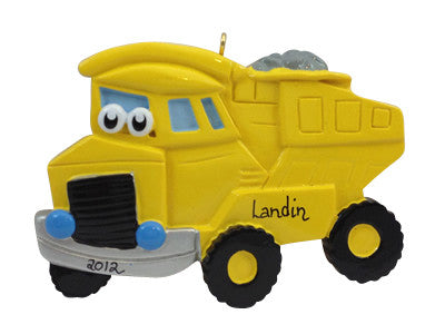 Dumptruck with Face - Made of Resin