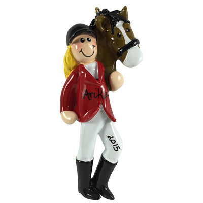Equestrian Girl Blonde - Made of Resin